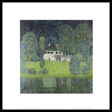 Gustav Klimt Litzlbergkeller am Attersee Poster Kunstdruck im Alu Rahmen 40x40cm