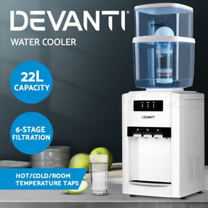 【EXTRA20%OFF】22L Bench Top Water Cooler Dispenser Hot Cold Taps Filter Purifier