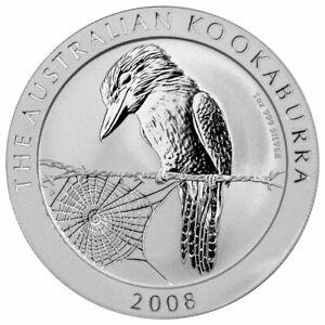 2008 Australia Kookaburra 1 oz silver