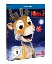 NIKO 2-KLEINES RENTIER,GROßER HELD 3D/2D BD  BLU-RAY NEU