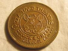 Rare 1981 San Jose CA Chuck E Cheese PizzaTime City TOKEN COIN