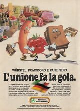 X3085 Specialità dalla Germania - L'unione fa la gola - Pubblicità - 1984 old ad