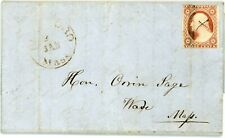 Blandford, Mass. 1855 letter to Hon. Orrin Sage at Ware #11