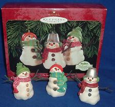 Hallmark Christmas Ornament Set of 3 The Snowmen of Mitford 1999 Jan Karon NIB