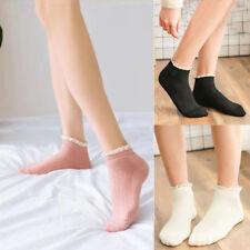 Women's Cotton Lace Ruffle Socks Princess Boat Short Ankle Socks Hosiery AUS