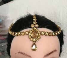 ANTIQUE GOLD KUNDAN HAIR HEAD CHAIN HEADPIECE HEAD JEWELLERY MATHA PATTI