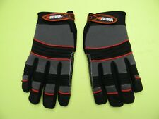 ECHO CHAINSAW KEVLAR LINED ARBORIST GLOVES FOAM PADS VELCRO CLOSURE -- LARGE