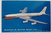Vintage Braniff Airways El Dorado Super Jet 707-227 Postcard Ad Card