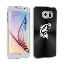 For Samsung Galaxy S7 S4 S5 S6 / S6 Edge + Hard Case Cover Bass Fish