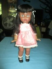 Egee Doll 18� African American Brown Eyes and Hair made of Plastic