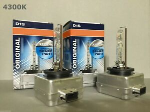 2PCS NEW OEM D1S 66144 66140 4300K HID XENON LIGHT BULBS SET HEADLIGHTS