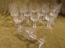 9 Verres à vin 6,5cl cristal Baccarat Richelieu Champigny crystal wine glasses