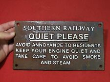 CAST IRON EMBOSSED SOUTHERN RAILWAY RAILROAD SIGN