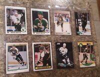 (8) Mike Modano 1990-1991 OPC Premier Upper Score Pro Rookie card lot RC Stars