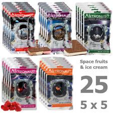 25 Stk. Astronaut Space Food - Früchte & Eiscreme - Astronautennahrung Weltraum