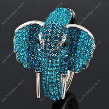 Blue Sapphire swarovski crystal rhinestone animal elephant bracelet Jewelry gift