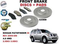 pour Nissan Pathfinder III R51 2.5 3.0 dCi 320mm ENSEMBLE DISQUES DE FREIN AVANT
