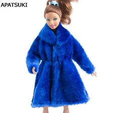 """Blue Winter Wear Long Coat For 11.5"""" Dolls Clothes Doll Dresses For 1/6 BJD Doll"""