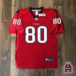 2006-11 Andre Johnson Houston Texans Vintage Reebok Battle Red Game Jersey Sz L