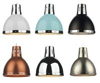 Osaka Metal Industrial Retro Coolie Pendant Light Shade Various Colours Easy Fit
