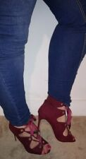 Used ladies good condition maroon worn heels size UK 8 EU 42