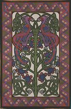 Handmade 100% Cotton Celtic Knot Parrot Tapestry Tablecloth Spread Full 88x106