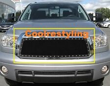 FOR 2010 11 12 13 Toyota Tundra Black Wire Mesh Rivet Stud Grille Insert