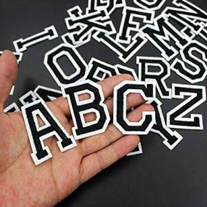 Black Letter Patch Patches Sew on / Iron on Retro Alphabet Embroidered Letters