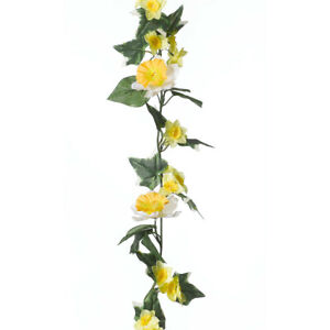 1.8M Daffodil Garland Artificial Easter Spring Flower Plant Decoration Bunting