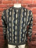Men's Vintage Norm Thompson Knit Sweater Cosby Style Italy  XL (58)