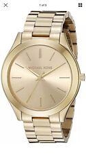 Women's Gold-Tone Michael Kors Runway Stainless Steel Watch MK3179