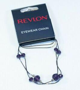 Revlon Eyewear Chain Reading Glasses Retainer Dark Purple Bronze 10401688