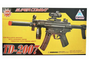 TD 2007 Military Gun Assault Battery Operated Super Combat Toy Machine Rifle UK