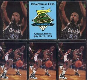 RARE 6 LOT 1993 THE NATIONAL CARD SHOW SHAQUILLE ONEAL RC ROOKIE HTF LOOK SP 92