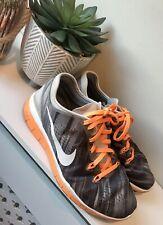 Nike Free 5.0 Ladies Running Trainers Orange / Grey Style Size 4