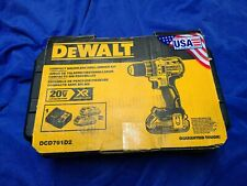 DEWALT 20 Volt XR Compact Cordless Drill Kit with 2 Batter Charger & Case NEW