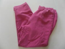Style&Co Collection Women's Pants Size-12 Pink 100% Silk 1/4 Rubber waist
