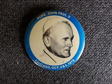 vintage 1979 Pope John Paul II Pin - America Chicago