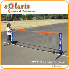 Portable 3 Meter Mini Tennis Net & Post Set Steel Post Nylon Net Carry Bag