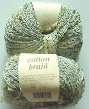 ROWAN COTTON BRAID Knitting Yarn/1 BALL/RENOIR (GREENS)