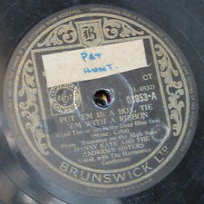 78rpm DANNY KAYE - ANDREWS SISTERS put em in a box / the woody woodpecker