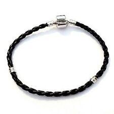 1 x Twist Leather Bracelet fit Charm Beads 18cm - A5419
