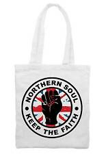 KEEP THE FAITH UNION JACK SHOULDER  SHOPPING BAG - Northern Soul Mod Motown