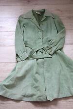 Damen, Vintage, Ledermantel, Wildleder, mintgrün, Größe 36, made in France