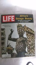 Life Magazine October 13th 1961 Africas Savage Beauty Color Photos By Time mg716