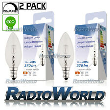 E14 Edison SES Eco Halogen Candle 28W = 40W Energy Saving Light Bulb Pack Of 2