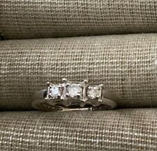 ring Size 5-6 3 stone Diamond
