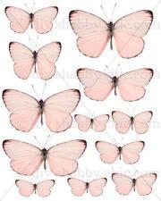 Furniture Decal Image Transfer Vintage Pink Butterflies Butterfly Wood Art Wings