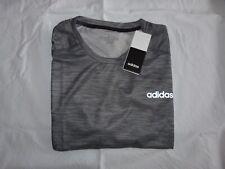 Adidas Sport Shirt Climalite, schwarz grau meliert, Gr. L, neu