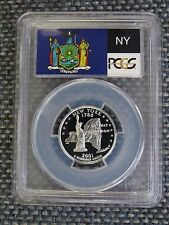 2001-S 25c New York SILVER State Flag Label Quarter Proof PCGS PR70DCAM